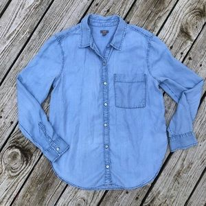 Aerie Chambray Button Down Top
